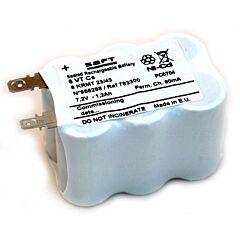 Batteria Compatibile Saft 783300 6 VT Cs per Luci di Emergenza