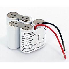 Batteria Saft 800092 5 VNT Cs U per Luci di Emergenza