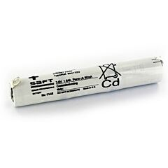 Batteria Saft 804172 3 VNT Cs 1600 per Luci di Emergenza