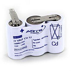 Batteria Saft 805383 3 VNT Cs U per Luci di Emergenza