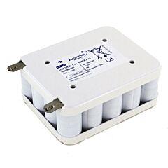 Batteria Saft 788816 20 VRE Cs 1300 per Luci di Emergenza