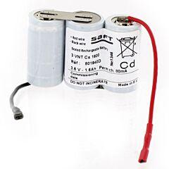 Batteria Compatibile Saft 801940 3 VNT Cs 1600 per Luci di Emergenza