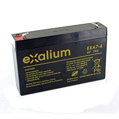 Batteria Exalium al Piombo - 6 V 7 Ah