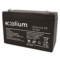 Batteria Exalium al Piombo - 6 V 10 Ah FR