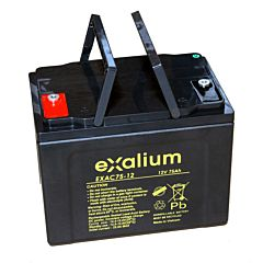 Batteria Exalium al Piombo - 12 V 75 Ah FR