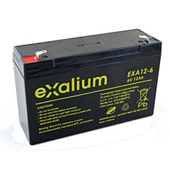Batteria Exalium al Piombo - 6 V 12 Ah