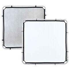 Lastolite -Tessuto per skylite fabric piccolo argento/bianco 1,1X1,1m