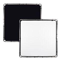 Lastolite - Tessuto SkyRapdid 1,5x1,5m nero e bianco