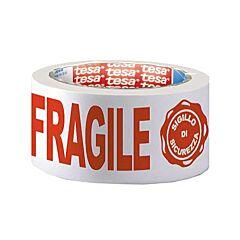 Nastro tesa 7024 - Stampato Fragile+Sigillo di Sicurezza 66m x 50 mm