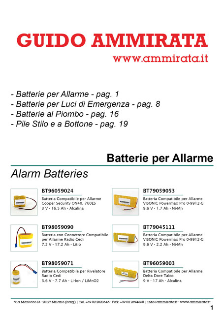 Catalogo Ammirata Batterie Industriali