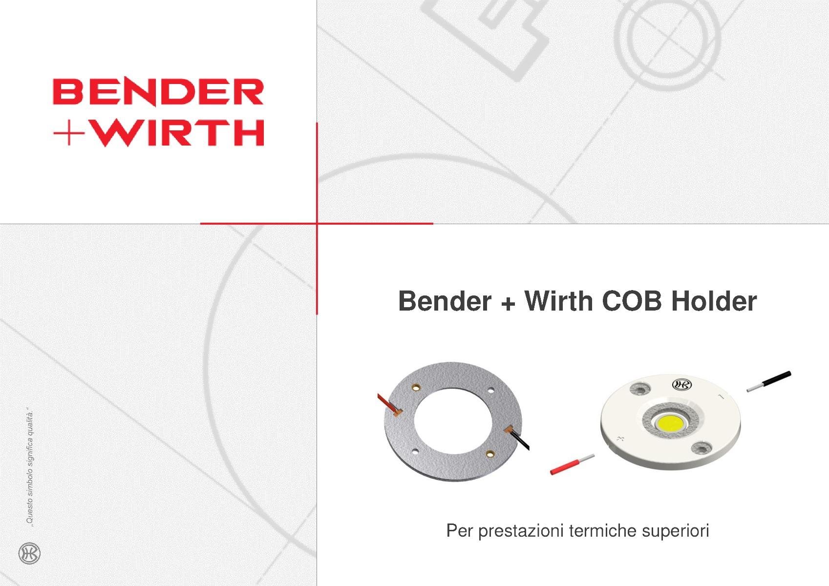 Presentazione Bender + Wirth Portalampada Serie 630